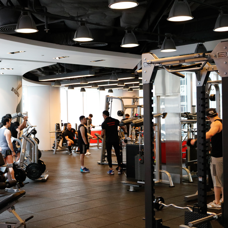 One of our favorite things in Hong Kong is going to the gym.