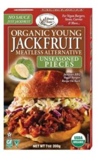 Organic Young Jackfruit is great as a pulled pork alternative
