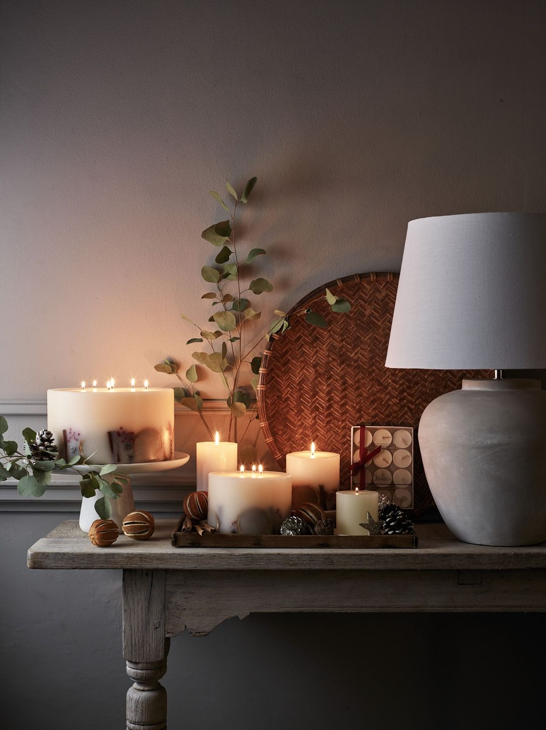 The White Company bedding is white and sleek. They also sell divine candles that fit in perfectly with the simple white bedding.