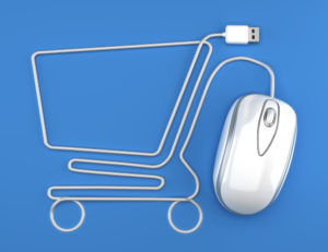 Computer mouse made into the shape of a shopping trolley. Shop online effortlessly using the Store HK
